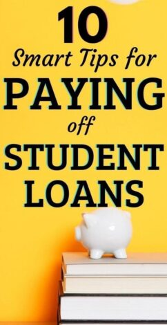 Paying off student loans can feel overwhelming. But if you need a student loan payoff plan, use these 10 debt tips for becoming debt free. Student loan forgiveness is not a reliable option. This includes tips for refinancing your student loans too. #studentloans #debt