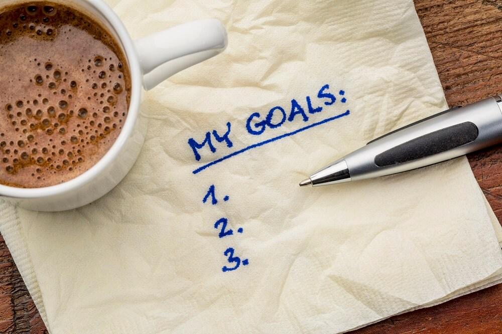 goals written on napkin