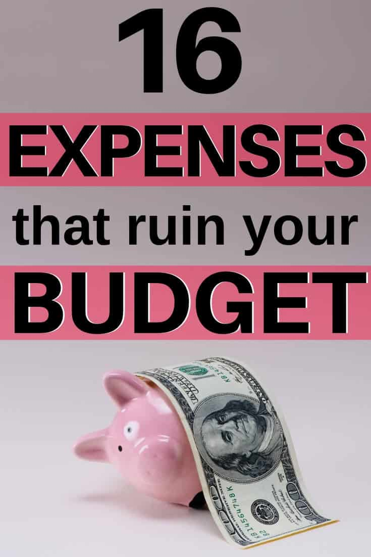 16 expenses that ruin your budget