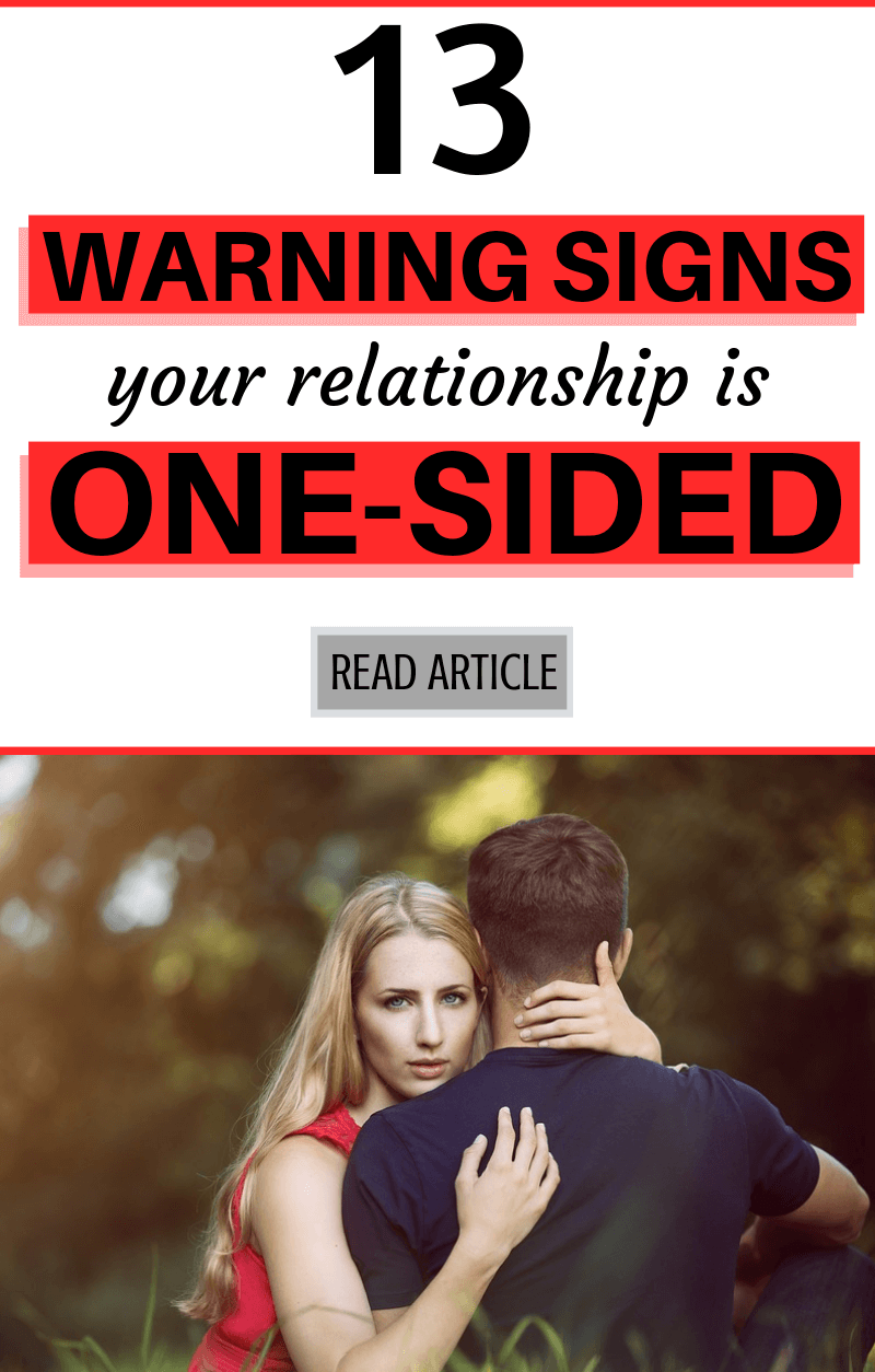 Signs your relationship is one sided