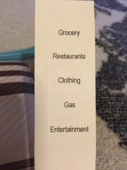 Cash Wallet Labels