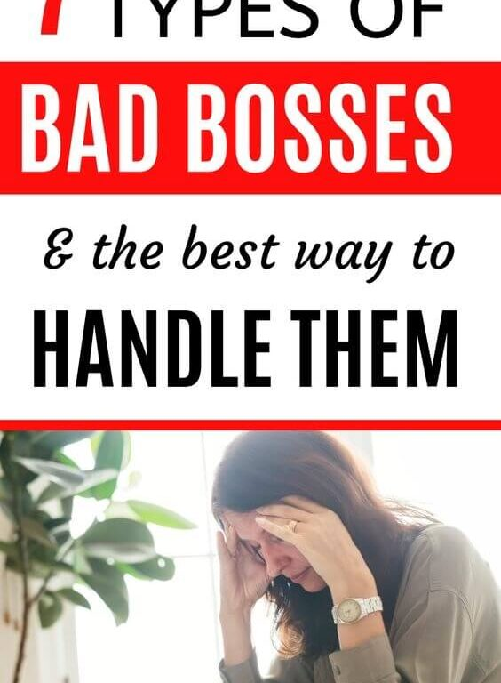 When you're working for a bad boss, it's can be hard to know what to do. Is your boss a bully? If you have bad management at work, then you need to read these 7 career tips for managing a bad boss. #career #careeradvice