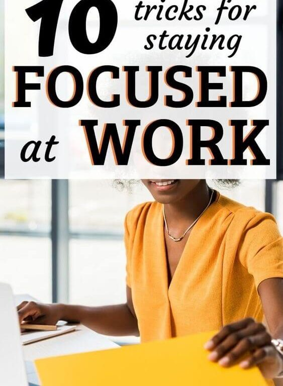 Staying focused at work is important to maximize your productivity. Between emails, texts, and other notifications - it's hard to stay on track with your time management. If you want to learn how to be productive at work, you can use these 10 productivity hacks and time management tips to get more stuff done. #timemanagement #productive #productivity