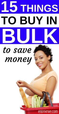 Ready to save money on groceries? Here is my favorite way to save money on groceries without coupons by buying in bulk. Save money on groceries frugal living and how to save money on groceries using your budget. #savemoney #savings
