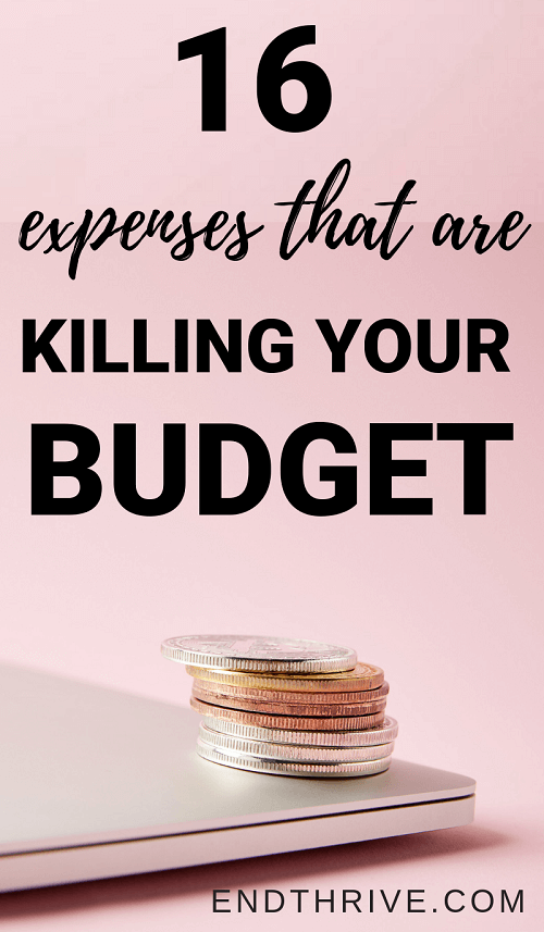 When you're learning how to budget, you need to avoid these budgeting mistakes. These tips work whether you're budgeting for beginners or learning how to make a budget. Here are 16 expenses that are ruining your budget. #budget #budgeting #howtobudget #moneytips #financialtips #daveramsey #savemoney #howtosavemoney