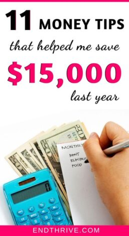 Saving money is hard enough, but saving more than $10,000 in a year took work. Here are 11 money saving tips I used to boost my savings last year. If you want to learn how to save $5,000 or more fast, use these tips. Here are 11 creative ways to save money. Try this money saving challenge now. #savemoney #savings