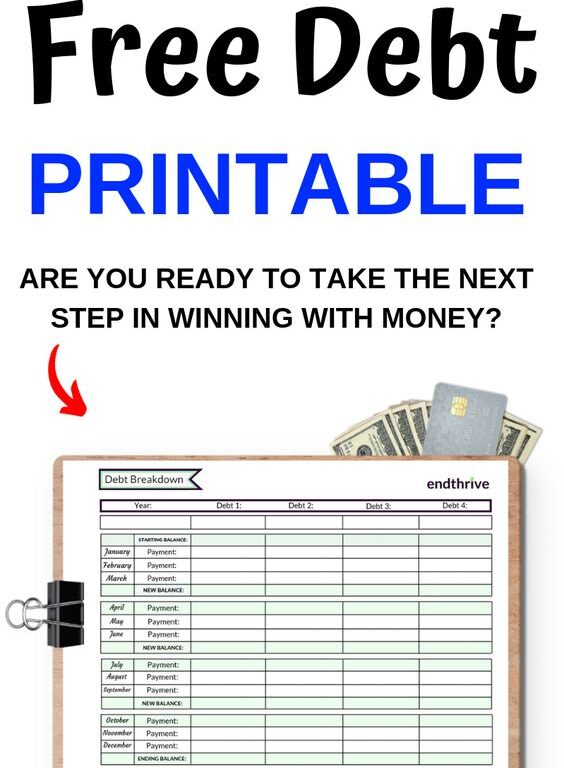 Don't stay stuck with your debt! Debt printables, debt worksheets, and debt templates can help you stay motivated! Plus, debt printables make it easy to track your progress. Use this debt printable to your advantage. #debtprintable #debtworksheet