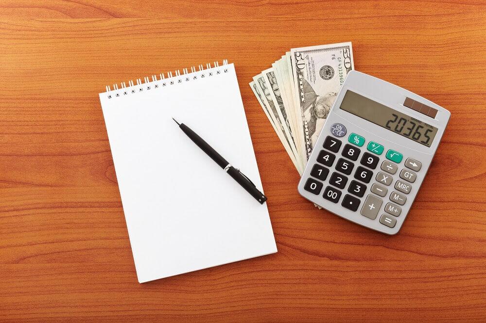 bills laying on desk