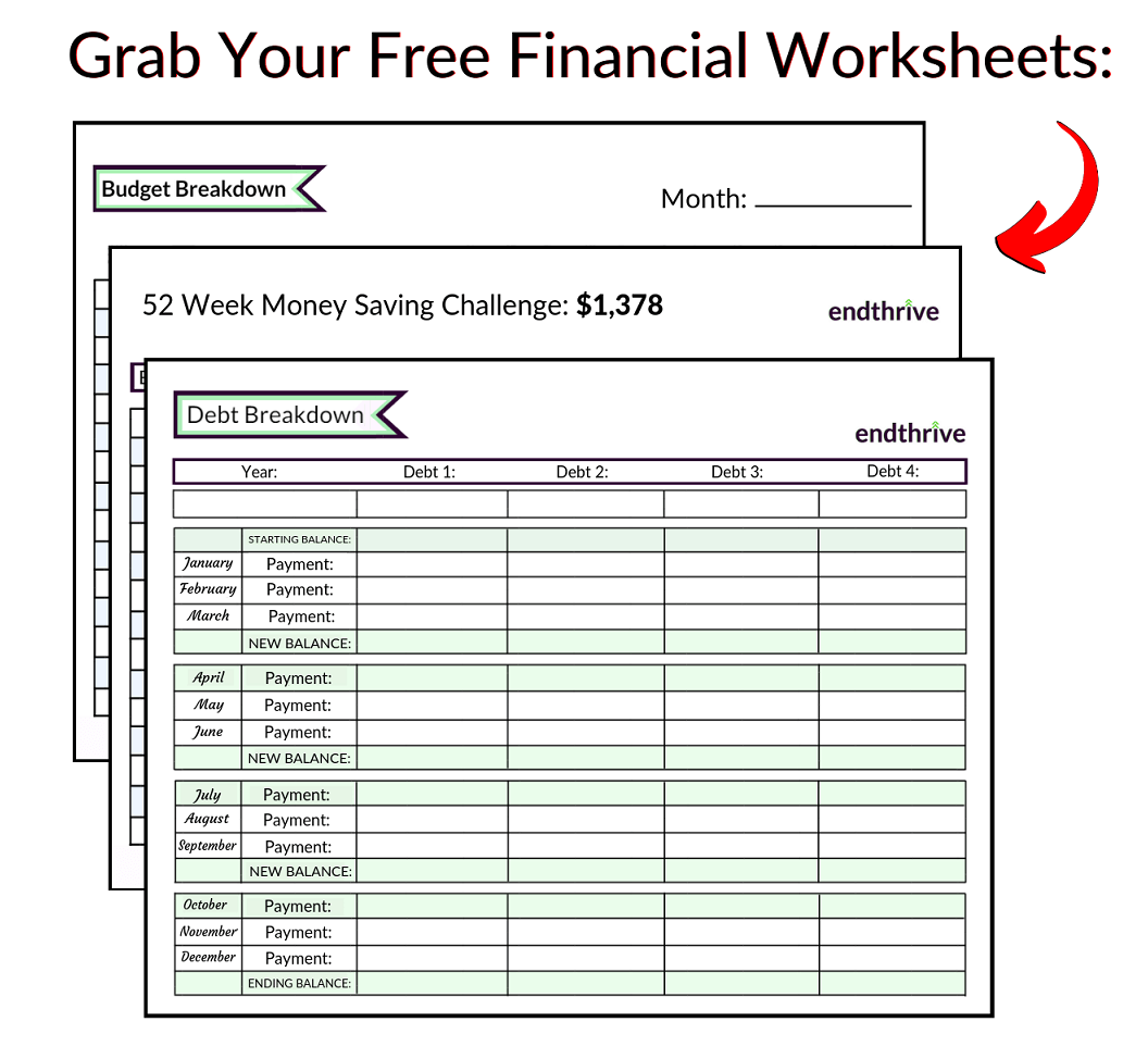 free financial worksheets