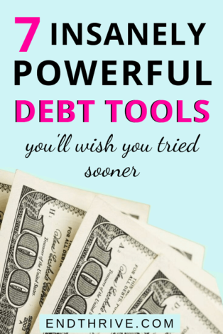When you feel like you're drowning in debt, you need these powerful debt tools to help you become debt free. Use these 7 debt reduction strategies to get out of credit card debt and student loans. Includes a debt tracker and debt spreadsheet. Learn how to manage your debt. #debt #debttracker #debtspreadsheet
