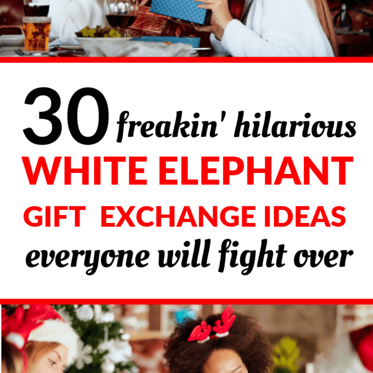 Are you playing the white elephant game this year? Here are 30 of the best white elephant gifts. Includes gag gifts, funny gifts, funny elephant ideas, creative Christmas gifts, coworker gift ideas, holiday gifts, and Christmas gift exchange. #christmas #christmasgifts #holiday