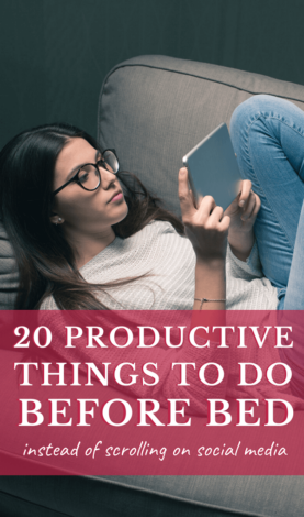 Are you ready to be more productive before bed?Then use these productivity tips for better time management and productivity inspiration. Includes productivity hacks, productivity tips, how to be productive, productive things to do, productive things to do at home, time management tips, time management hacks, productive day schedule, and productive day. Productive things to do before bed. #productive #productivitytips #timemanagement #success #productivityhacks #girlboss #bossbabe #selfcare
