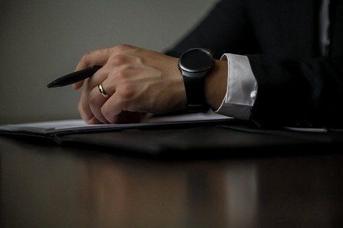 Business mans hand